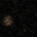 Rosette Nebula and its Neighborhood - Kelda 135mm at F2.8 - UHC,                                altazastro