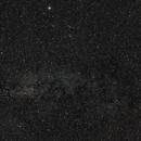 Milky way in the summer triangle,                                deufrai