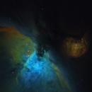Orion Nebula in Hubble Palette from Telescope Live,                                Mauricio Christiano de Souza