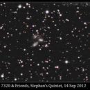 NGC 7320, Stephan's Quintet, 14 Sep 2012,                                David Dearden