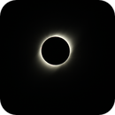Eclipse of sun from the hill of mamalluca (Valle del Elqui-Vicuña-Chile) * with protuberances *,                                C.A.L. - Astroburgos