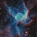 Thor's Helmet NGC 2359 HOO with RGB stars (more data),                                Ben