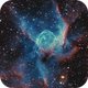 Thor's Helmet NGC 2359 HOO with RGB stars (more data),                                Ben