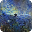 HorseHead nebula (h-alfa) - processed by Google's DeepDream using Vincent van Gogh's Starry Night as style,                                Jaime Alemany