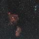 Nébuleuses du coeur de l'âme et le double amas à 113mm de focale,                                Nicolas JAUME