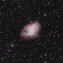 Crab Nebula (M1) in LHaSIIRGB,                                Sergey Trudolyubov