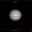 Jupiter, Io and Ganymede 2014-12-25   03h04,                                Jordi_Delpeix_Borrell