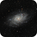 M33 LRVB - Mix image from mono and OSC Camera,                                PVO