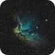 NGC 7380 - Wizard Nebula,                                Jordane Marlière
