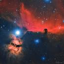 Horse Head and Flame Nebula,                                Delberson