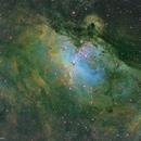 M16 Eagle Nebula (SHO-Hubble palette),                                Stamatis Paraschakis