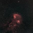 Flaming Star Nebula at 85mm in HOO,                                JDJ