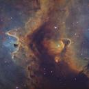 The Soul Nebula - Ha Oiii Sii RGB,                                Teagan Grable