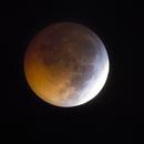 Eclipse de Lune à travers les nuages,                                Nicolas JAUME