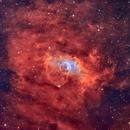 The Bubble Nebula - 53 Hours of SHO and RGB Stars,                                Tal Akerman