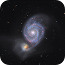 M51 and NGC 5195 imaged from three different locations,                                rhedden