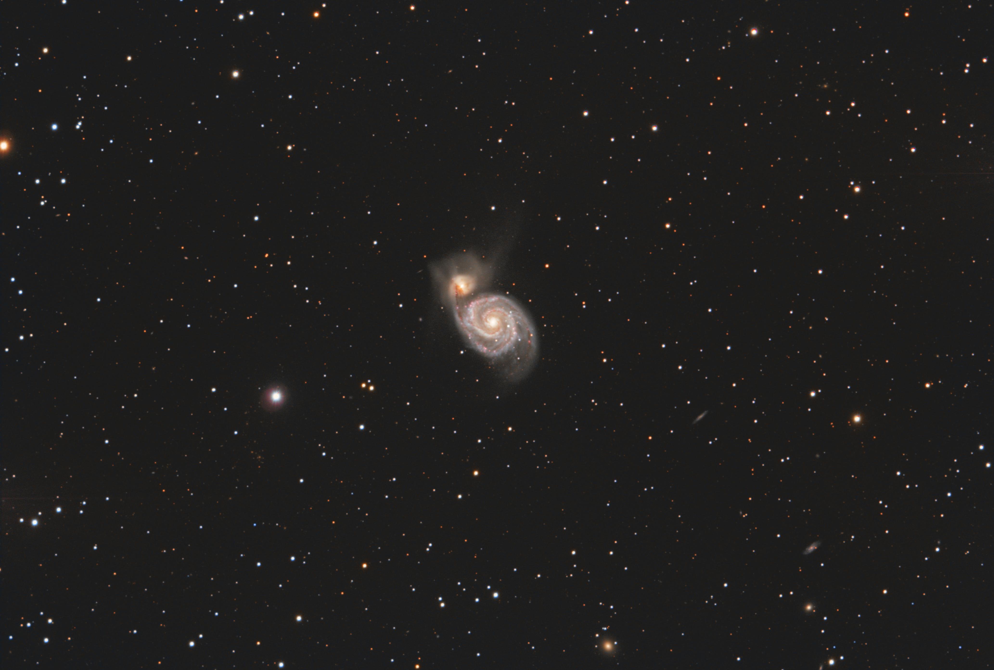 M51 - Galaxie du tourbillon avec la LBV AT2019abn,                                Caillault Guillaume
