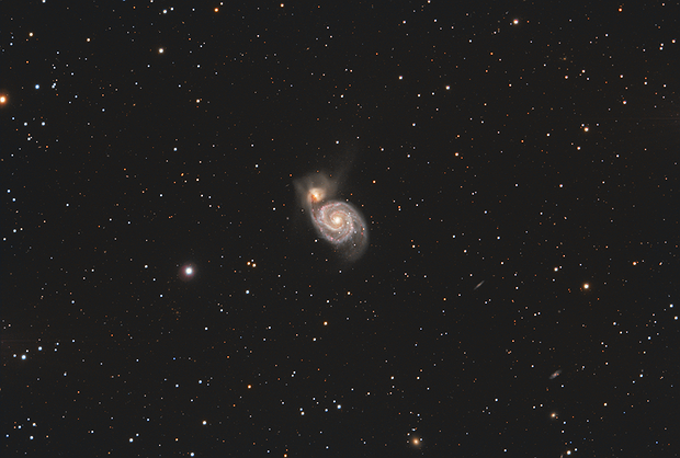 M51 - Galaxie du tourbillon avec la LBV AT2019abn,                                Caillault Guillaume