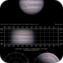 Jupiter, GRS and Oval BA with projections.,                                Massimiliano Veschini