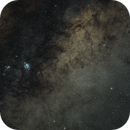 Milky Way with M8 and M20 - DSLR / 85mm fix lens,                                KiwiAstro