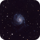 M101 Pinwheel Galaxy - new ZWO 1600MM Pro Mono Cooled First Light,                                T L Samuels