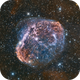 Crescent Nebula (NGC6888) close up in Hα/SII/OIII+rgb,                                Jose Carballada