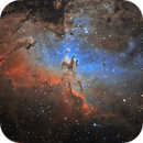 M16 Pillars of Creation in narrow band,                                Kevin Parker