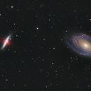 M81 Bodes Galaxy and M82 Cigar Galaxy HaGB,                                Mark Carter