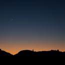 Moon over roque de los muchachos / La Palma,                                Mario Gromke