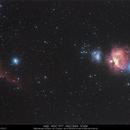 M42 - NGC2024 - NGC1977 - IC434,                                Gérard Nonnez
