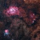 4 Frame Mosaic of the Lagoon and Triffid Nebulae Region,                                RobF