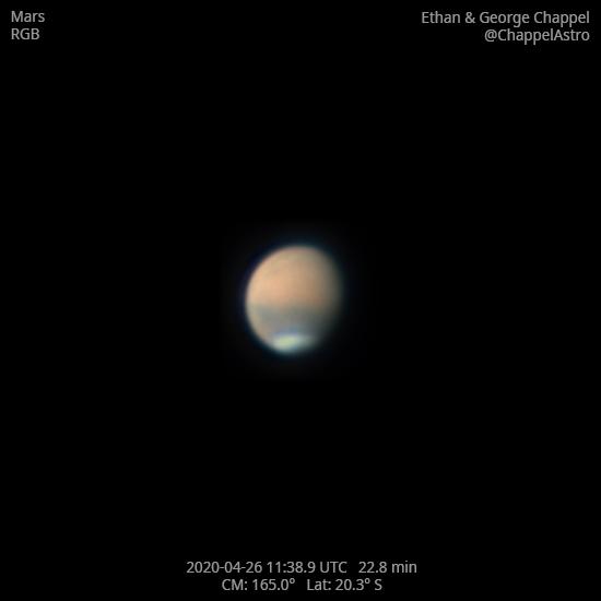 Mars on April 26, 2020,                                Chappel Astro