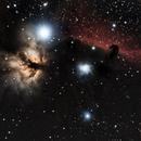 IC 434 Nébuleuses de la flamme et de la Tête de cheval dans Orion,                                Roger Bertuli