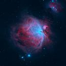 Great Orion Nebula in HOO narrowband,                                gmelikian