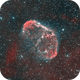 The Crescent Nebula (NGC6888) in BiColour HaO3O3,                                Andreas Eleftheriou