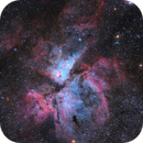 Carina nebula with a zoom lens and stock DSLR,                                Pedro A. Sampaio