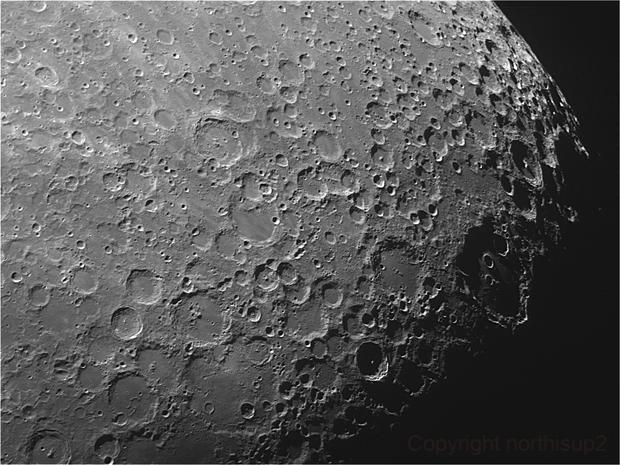 Moon Crater Clavius Region,                                John Leader