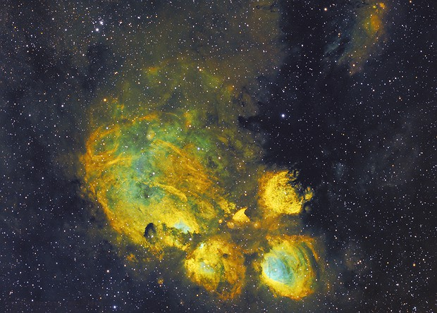 Dog's Paw Nebula (hey I'm not a cat person ok) NGC 6334 in SHO,                                robonrome