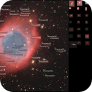 Helix Nebula background galaxies,                                Richard Muhlack