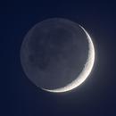 Moon and Earthshine,                                Robert Eder