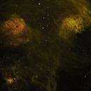 IC 405 Wide Field Narrowband  Flaming Star Nebula,                                Caspar Schumann