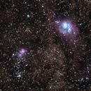 M8 (Lagoon Nebula) - M20 (Trifid Nebula) - Wide Field,                                Harold Freckhaus