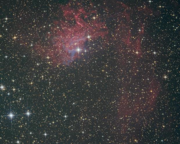 IC 405 - the flaming star nebula,                                Detlef Möller