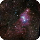 Cone Nebula and Christmas Tree cluster,                                Joostie