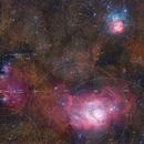 Lagoon and Trifid Nebulae - APOD 2021/04/26,                                Gabriel R. Santos (grsotnas)