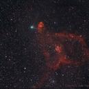 C/2014 e2 Jacques + IC 1805,                                comiqueso