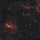 NGC 7635 - Bubble Nebula and NGC 7538 - HaOO,                                JD