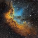 The Wizard, NGC 7380, SHO Hubble Palette,                                Eric Coles (coles44)