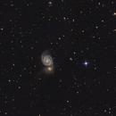 Whirlpool Galaxy M51 with newton 150/750,                                Bach hamba Youssef