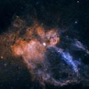 SH2- 157  The Lobster Claw Nebula,                                CitySpace Astro